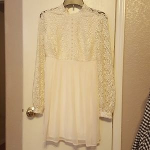 White/Ivory LC Lauren Conrad Runway Lace Top