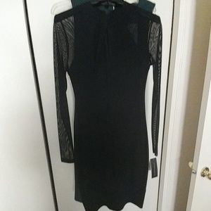 Black bodycon dress size 6