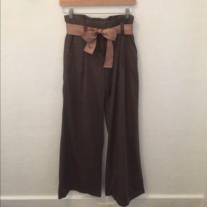 Express Ribbon Tie Paper Waist Pant