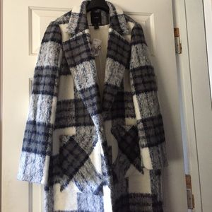 NWT Forever 21 Plaid Coat
