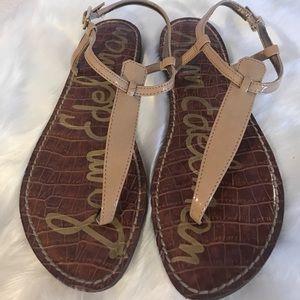 Sam Edelman thong sandals tan