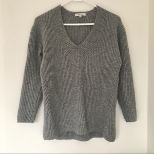 Madewell Woodside Wool Pullover in Heather Grey