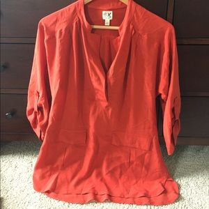 Anthropologie red blouse