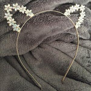 Jeweled cat ear headband