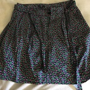 Gap Green Leaf and Blossom Skirt - size 2 🍃 🌺