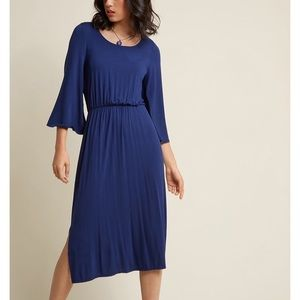 "NWOT ModCloth ""Joyous Jersey Journey"" Midi Dress"