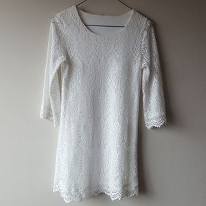 H&M Laced stretchy tunic dress