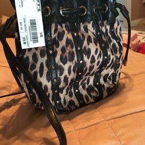 Leopard/Cheeta Nine West Crossbody fun size !