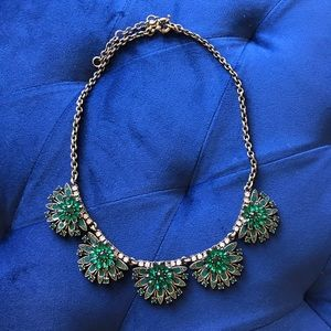 J.Crew Green Crystal Necklace