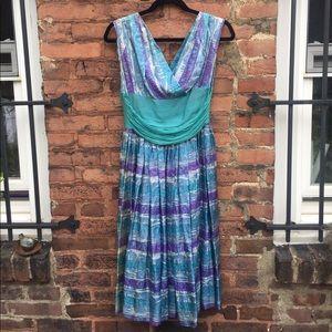 1960s vintage silk party dress