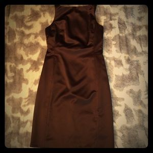 Chocolate Satin Nicole Miller dress