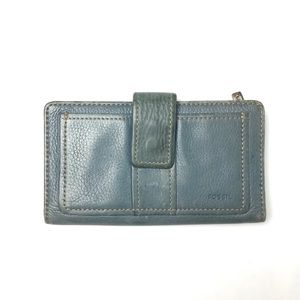 Fossil Blue Leather Wallet