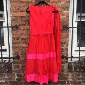 Incredible RED AND PINK 60s cocktail dress!!!