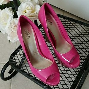 City Street pink high heels shoes size 8 1/2