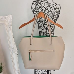 2 in 1 cream Aldo tote and crossbody purse.