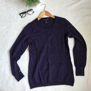 Banana Republic Purple Extra Fine Merino Sweater