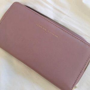 Mauve clutch wallet