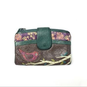 Fossil Leather Bird Wallet