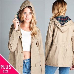Jackets & Blazers - 🍁🍂PLUS SIZE Khaki Utility Jacket🍂🍁