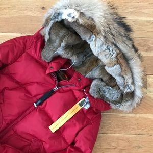parajumpers masterpiece long bear lapin fur w