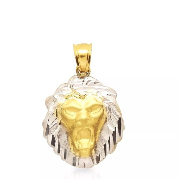 Accessories 10k solid yellow white gold lion pendant poshmark 10k solid yellow white gold lion pendant aloadofball Choice Image
