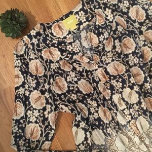 ANTHROPOLOGIE Floral Blouse by Maeve