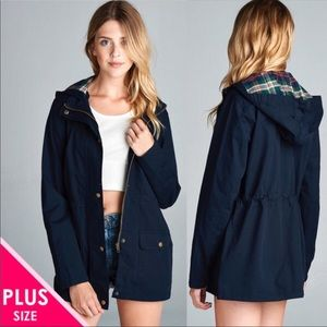 Jackets & Blazers - 🍁🍂PLUS SIZE Navy Blue Utility Jacket🍂🍁