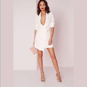 bca455304134 Missguided Jackets & Coats - Missguided Midi white blazer dress
