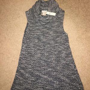 NWT! sleeveless cowl neck tunic, size M