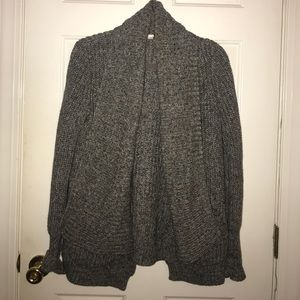I. Crew able knit open front gray sweater size S