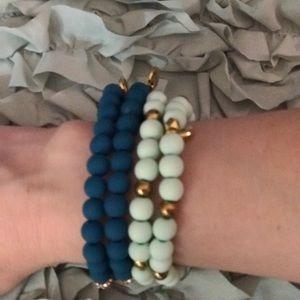 "Erimish Bracelet ""the blues are still blue"" Stack"