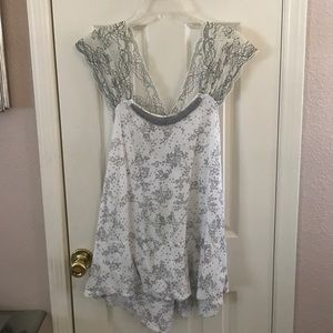 Free People Lace and Beaded Top