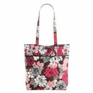 Vera Bradley Mocha Rouge Small Tote Bag