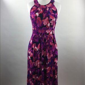 Calvin Klein Floral Maxi dress halter Blouson 2