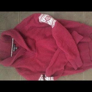 Banana Republic Cranberry Cowell Neck Sweater