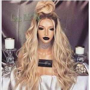 Human hair blend wig