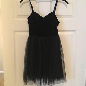 H&M velvet and tulle dress