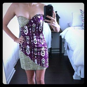 Two tone dress strapless dress