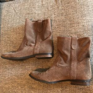 Vince Camuto Tan Booties Boots Slouch Pull Slip On