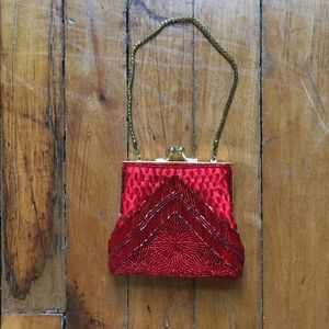 Red Beaded Wristlet