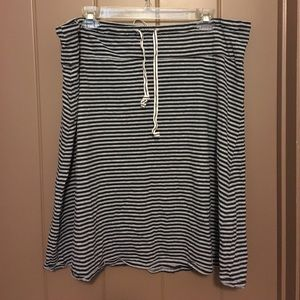 casual striped skirt