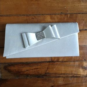 Lulu Townsend White and Silver Clutch