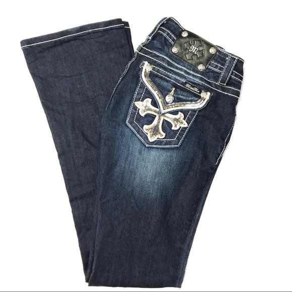 e8b479c91b Miss Me Signature Boot Studded Modern Cross Jeans.  M 59ebb26ebcd4a7f117052dfb