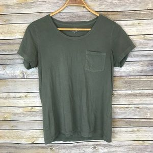 J. Crew Factory Green Garment Dyed Pocket Tee