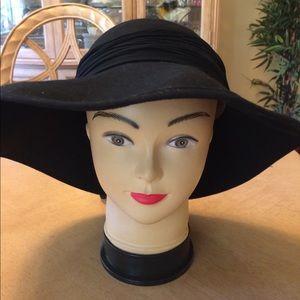"🌺 Vintage ""Evelyn Varon"" 100% Wool Black Hat!!!"