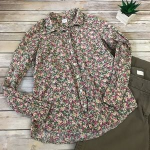 J. Crew Factory Perfect Shirt Cottage Floral Top🌺