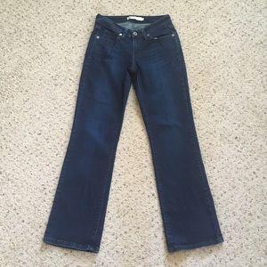 Levis 529 Curvy Bootcut Dark Blue Denim Jeans 6