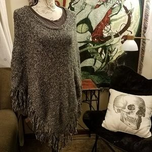 🕇 NWT Mossimo Marled Knit Poncho