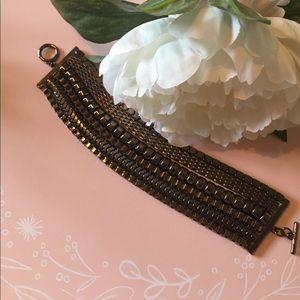 Gunmetal Grey Multi-Strand Bracelet