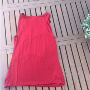 Red Tank Top - Gold Detail